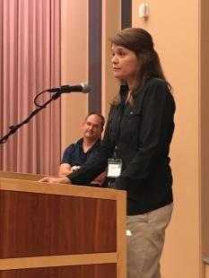 Jackie Gabriel, winner of Constance Coiner Award for Best Dissertation