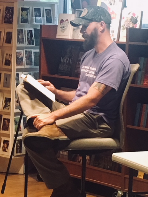 David Joy reading at Quail Ridge Book Store, Raleigh, NC